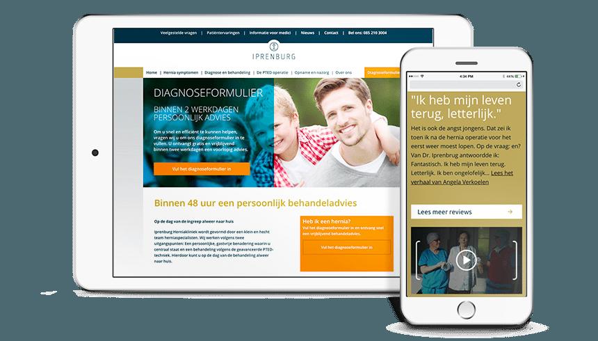 Conversie website Iprenburg Herniakliniek
