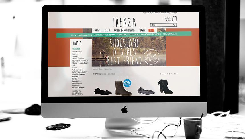 Interior branding schoenenzaak Idenza