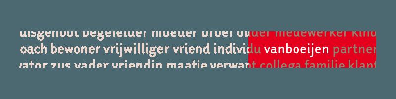 Positionering gehandicaptenzorg Vanboeijen